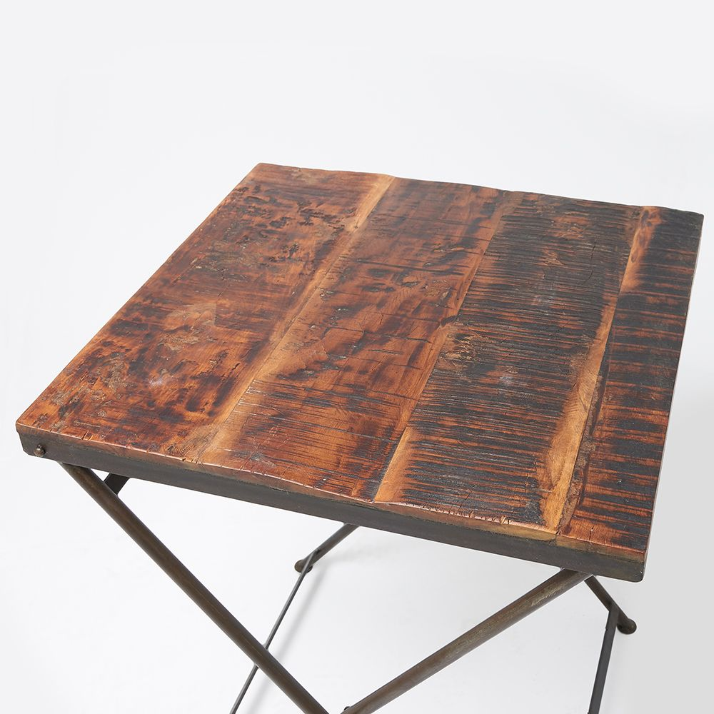 wood folding table reclaimed wood folding bistro table 31066